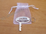 Amperm key + pendat JAWA together, polished stainless steel