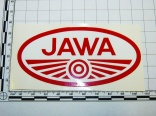 Sticker JAWA red/white 10x5 cm