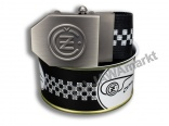 Textil Belt CZ - in closed can, BLACK chessboard