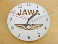 JAWA clock - polished stainless steel, 20cm