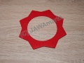 Felt for cap of fueltank - red