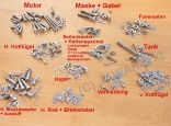 All screws Jawa 350/360 - POLISHED STAINLESS STEEL