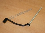 Rear brake pedal Jawa 634, 638, 640 - with shaft